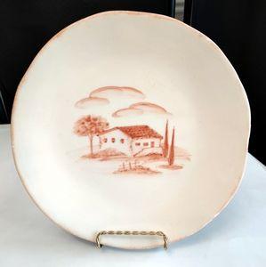 Rare Vintage Arte Italica Hand Crafted Plate